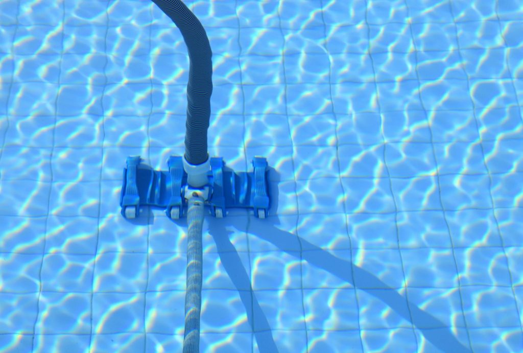 pool vacuum under the pool